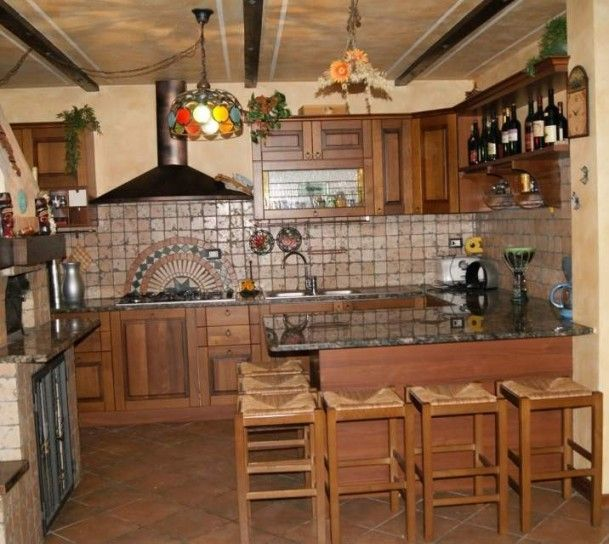Wood design, Traditional kitchens and Solid wood on Pinterest