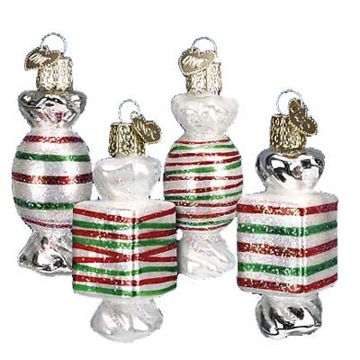 Assorted Holiday Candy Ornaments 32091 Old World Christmas Holiday