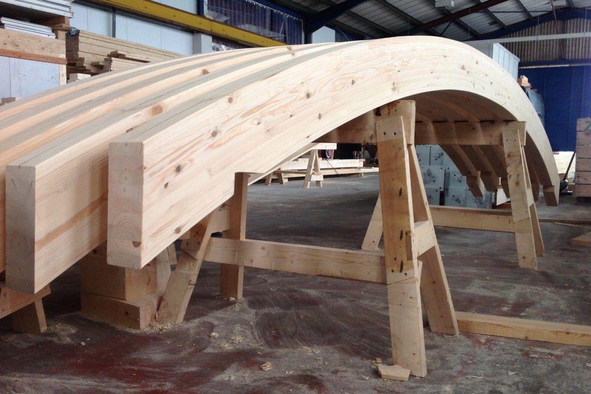 Curbed Glulam Beams Beams Wood Laminate Structure Design