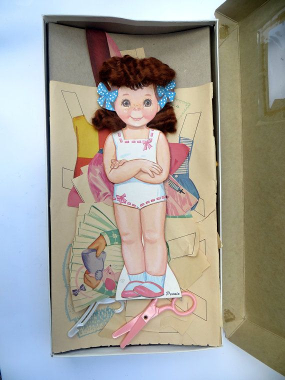 Real Hair Paper Doll Vintage 1960's Pennie by BuzzardBillys