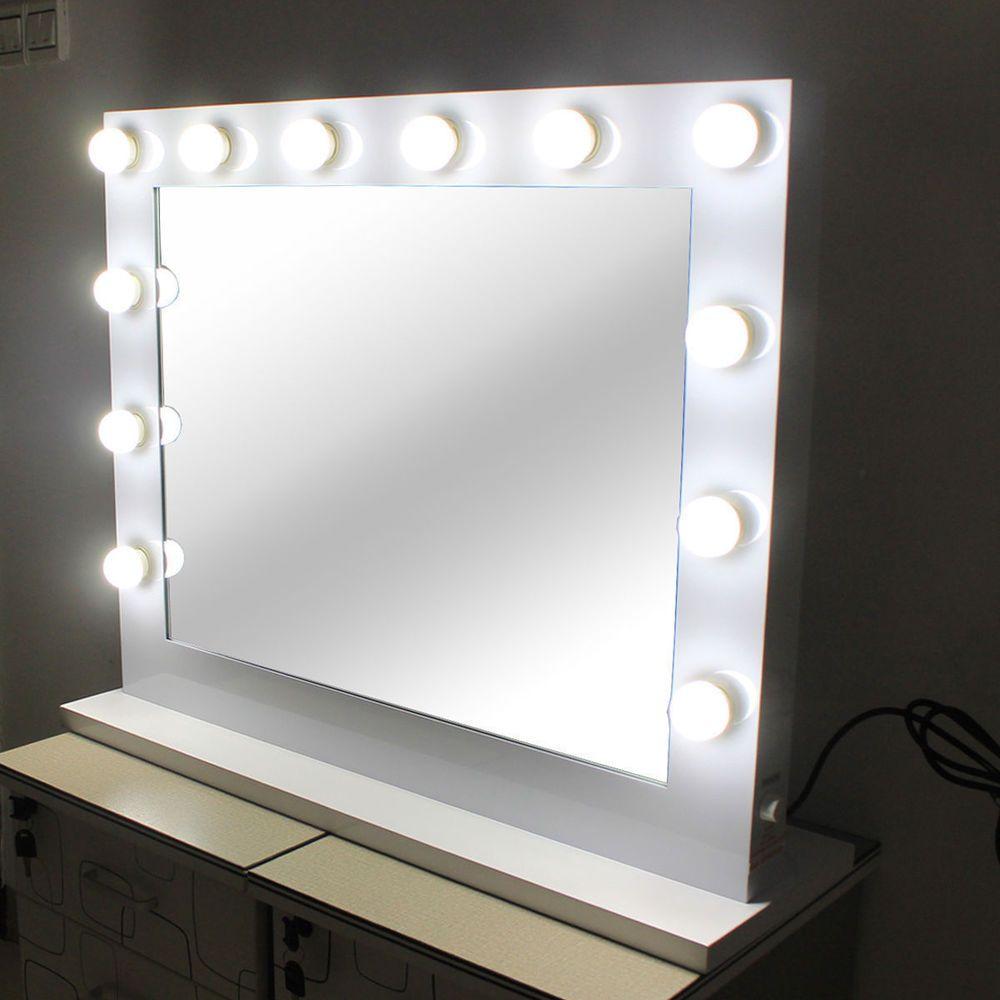 Hollywood Kosmetikspiegel Mit Beleuchtung Weisse Freie Dimmer 14 Led Lampen Beauty Gesund Kosmetikspiegel Mit Beleuchtung Spiegel Mit Beleuchtung Led Lampe