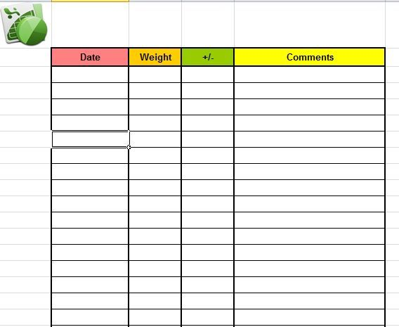 Weight Loss Journal Template Printable | Weight Record Chart ...