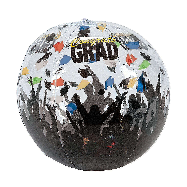 "Disco Ball Decorations Cheap: Inflatable 10"" Graduation Celebration Medium Beach Balls"