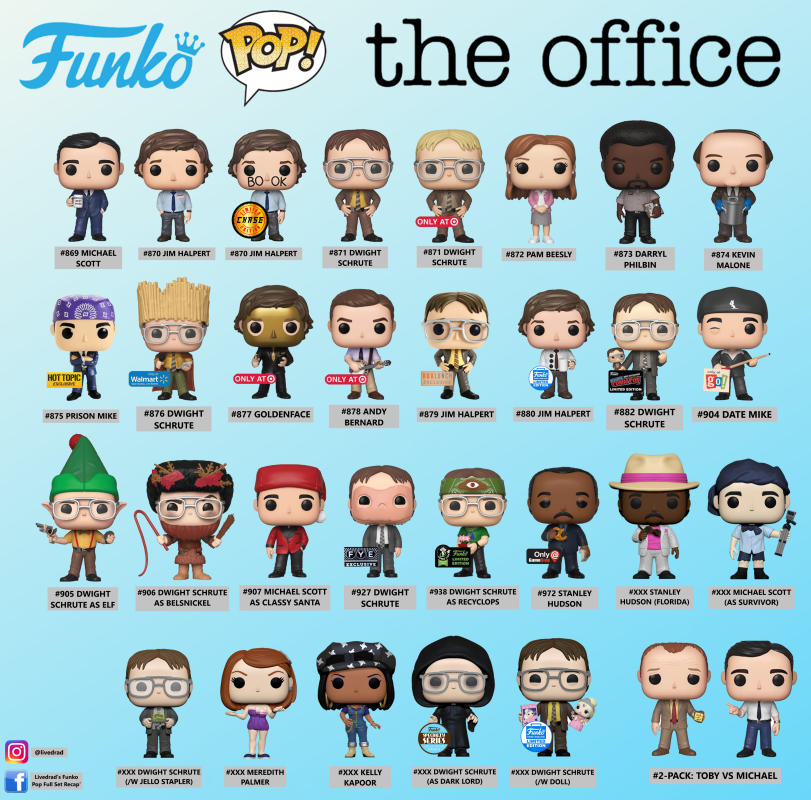 The Office Funko Pop Full Set List Png Mediafire In 2020 Funko Pop List Funko Pop Vinyl Rare Best Funko Pop