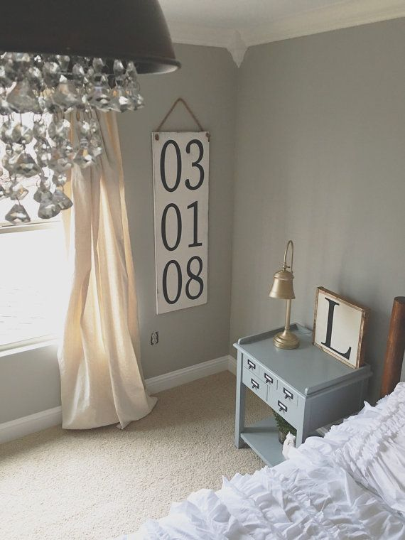 cozy farmhouse bedroom decorating ideas https herminiadecorfo also anniversary wooden sign date number wedding  rh co pinterest