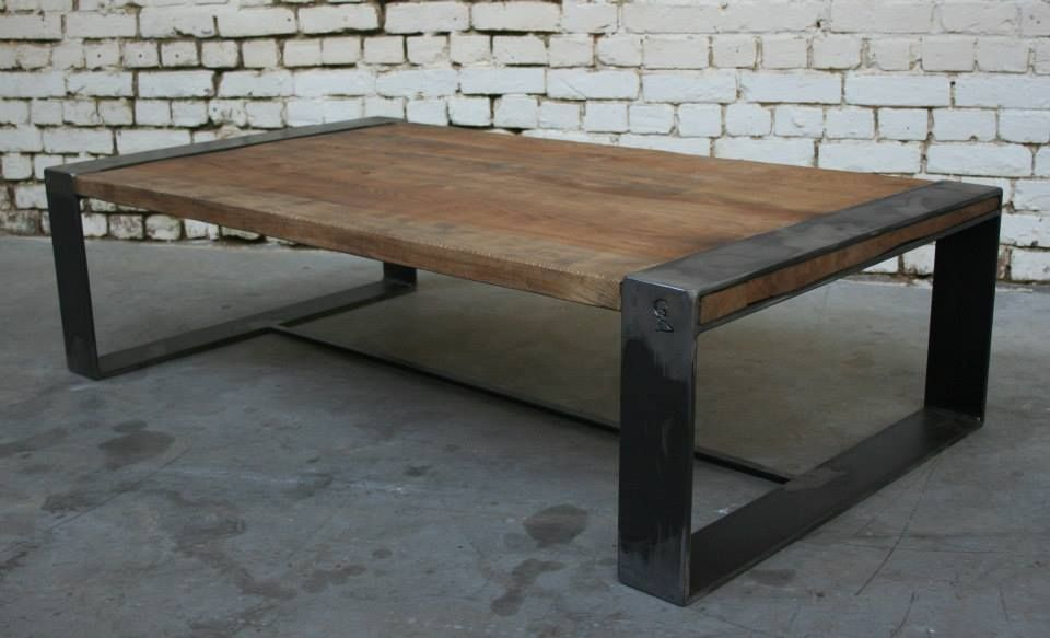 Table Basse Bois Metal Vintage Desmet Giani Industriel Jpg 960