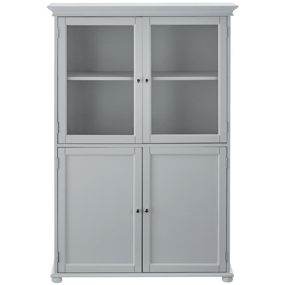 Home Decorators Collection Hampton Bay 36 In W X 52 1 2 H 14 D Bathroom Linen Storage Tower Cabinet Dove Grey
