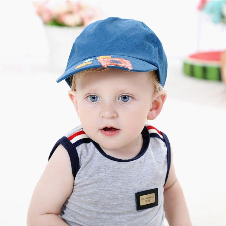 click to buy 2016 baby boy cap summer children s top brand