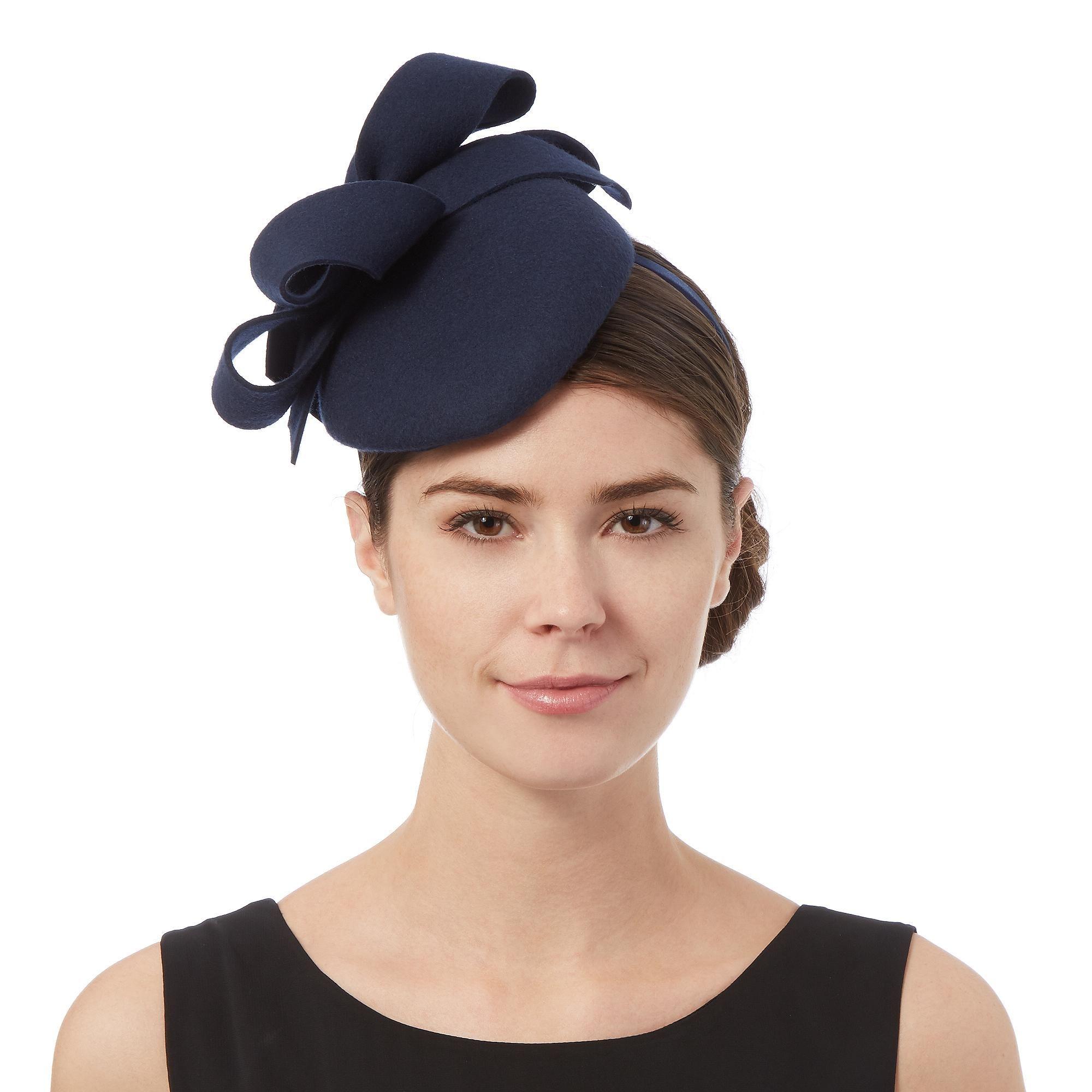 Navy looped fascinator - Hats   fascinators - Debenhams.com ... a1d939746bc