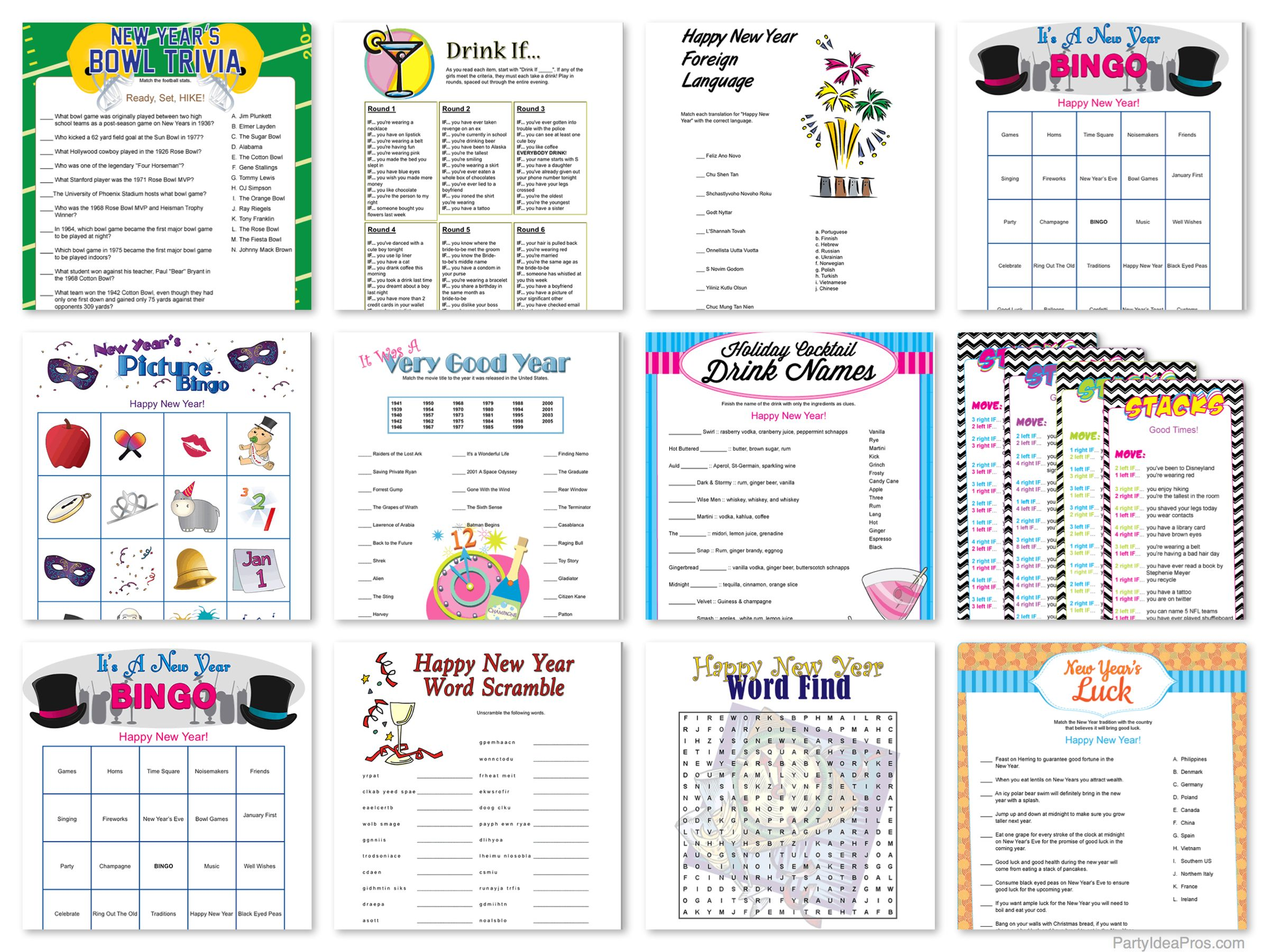 printable new years party games new years party pinterest rh in pinterest com chinese new year party games 2018 new year party games printables