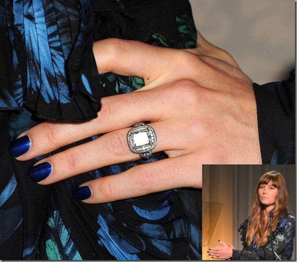 Celebrity Engagement Rings In Pictures Jennifer Biel Celebrity