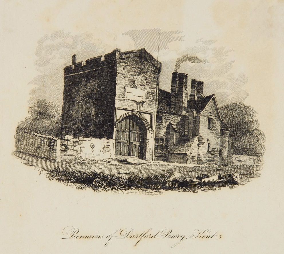 The Remains Of Dartford Priory, Kent. Drawn And Etched By