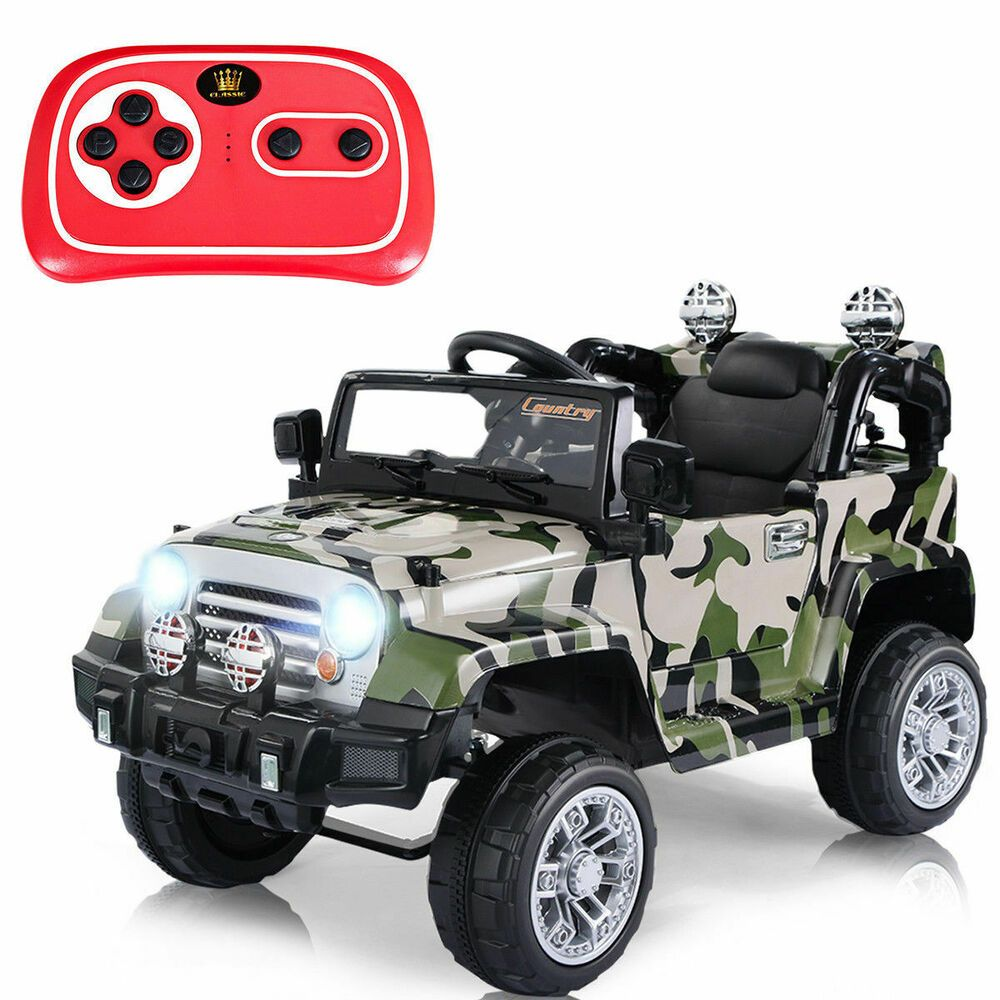 Kids Ride On Jeep Truck 12V MP3 In Headlights RC 35mph