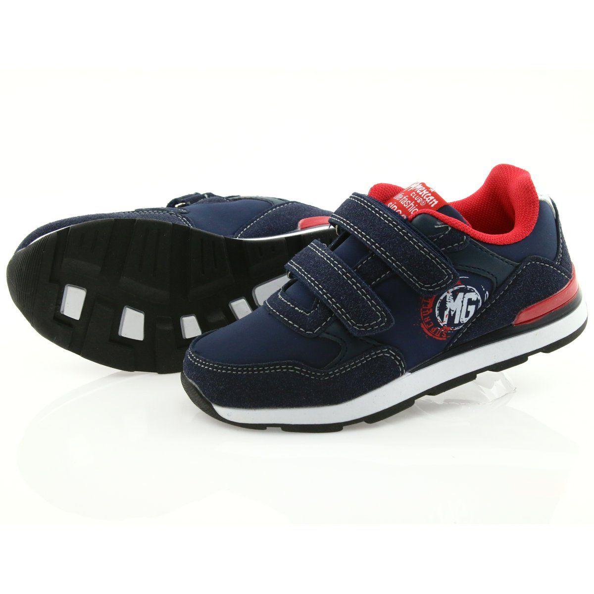 American Club Buty Sportowe Wkladka Skorzana American Bs08 Czerwone Granatowe Sport Shoes Shoes Leather