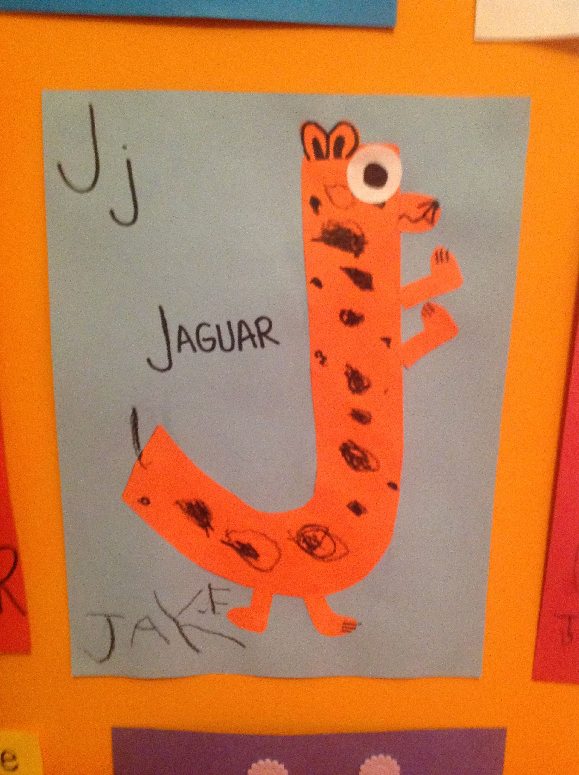 Letter J Craft Jake Dylan Letter J Crafts Preschool Letters J