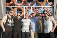 Wild Cub gathers for a photo backstage with BMI's Mark Mason at the 2014 Hangout Music Festival on May 16, 2014, in Gulf Shores, AL. (Photo by Erika Goldring)