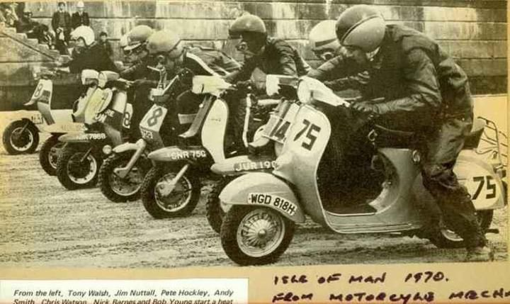 Isle of Man 1970 Scooter week, Lambretta and Vespa racers