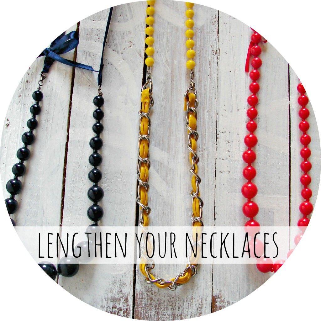 adding length to necklaces... - A girl and a glue gun