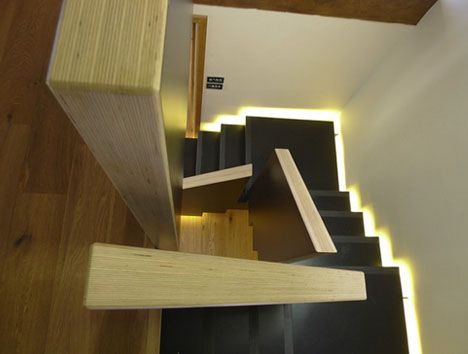 I Like The Geometric Twist On This Circular Staircase. Floating Square  Spiral