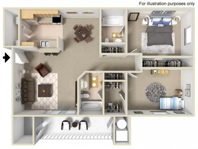 2 Bedrooms 2 Bathrooms 1 150 Sq Ft Apartamentos Hogar Decoracion De Unas