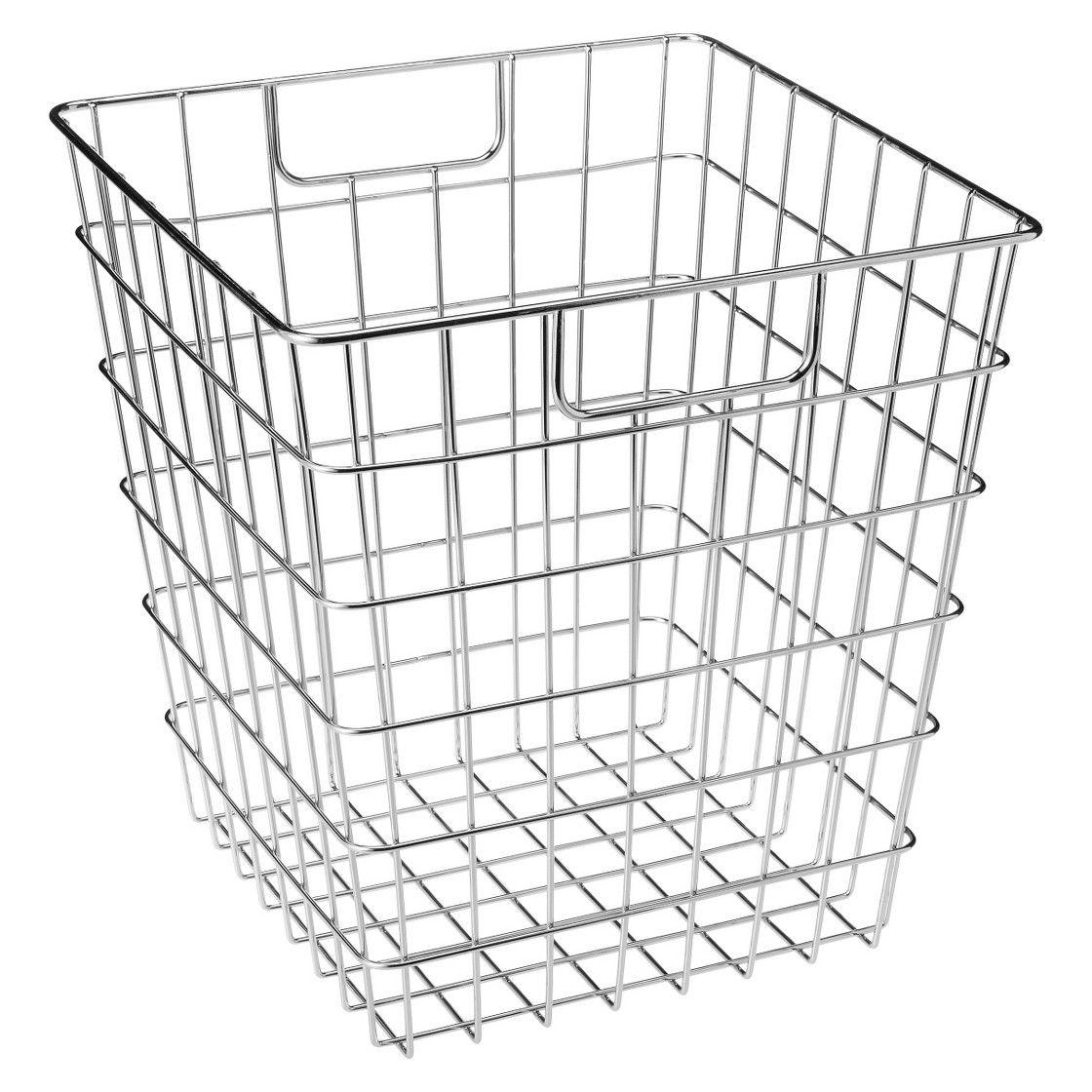 Room Essentials Decorative Wire Basket - Chrome | laundry room ...