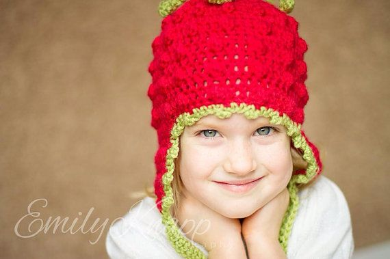 Strawberry Hat on Etsy, $30.00