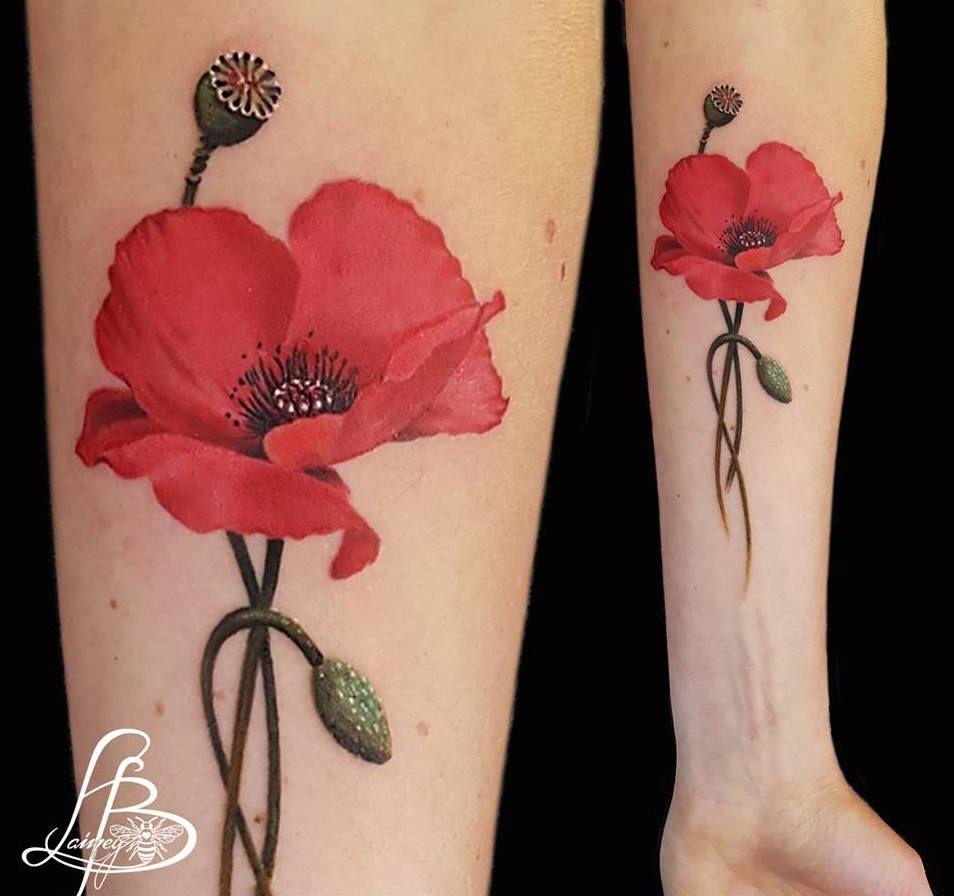 18ba2f8230d2d Beautiful Poppy tattoo design, limited availability at Holy Grail Tattoo  Studio