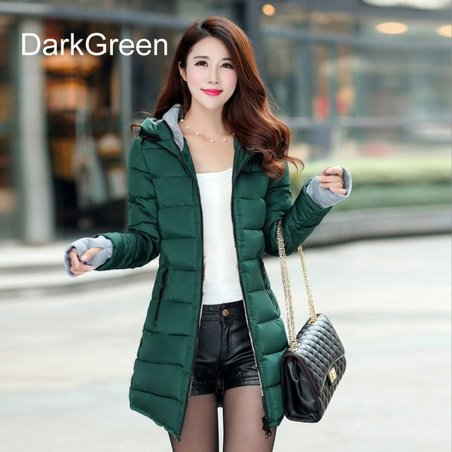 f1f8847fff Warm Winter Jackets Women Fashion Down Cotton Parkas Casual Hooded Long  Coat Thickening Zipper Slim Fit Plus Size Long Parka Like and share if you  think ...