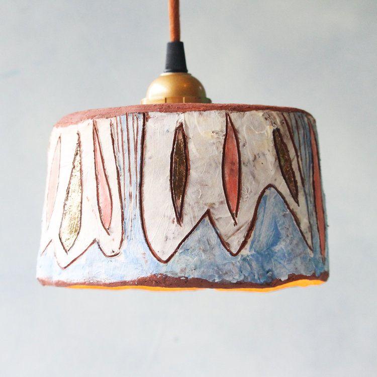 Bloom with Copper Ceramic Pendant Light by Madeline King. #pendantlighting