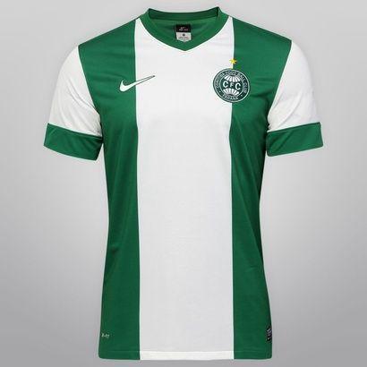 40e6b7e39a Camisa Nike Coritiba II 13 14 s nº - Verde+Branco