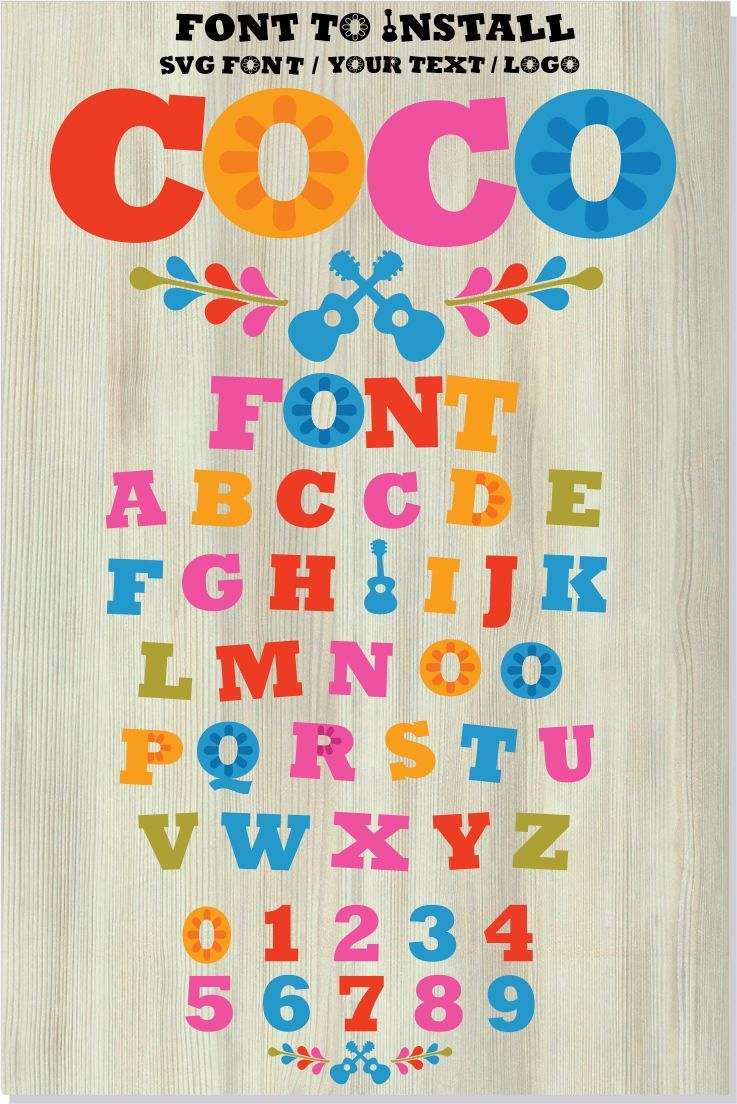 Color Font Otf Color Font Svg Color Letters Svg File For Cricut Color Shirt Diy Color Vector Font Instant Download Disney Font Free Hand Lettering Alphabet Disney Font