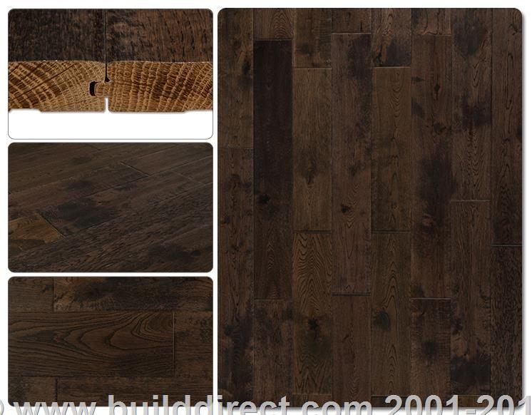 BuildDirect®: Hardwood Flooring Handscraped Oak Hardwood Flooring   Rainstorm Gray