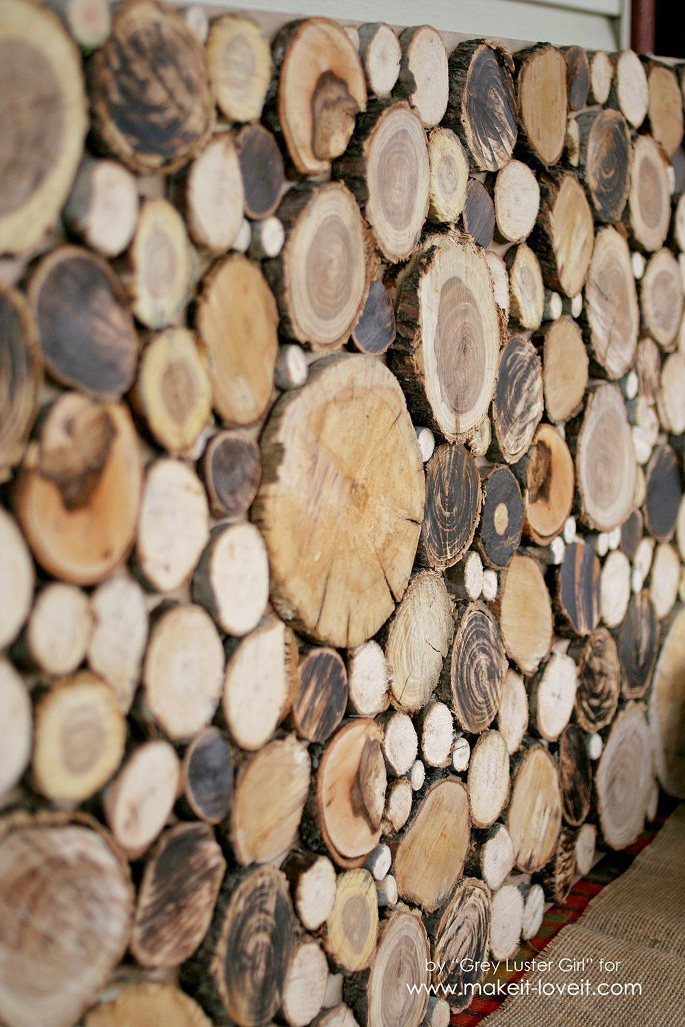 How to make your own wood slice backdrop onedeerful pinterest