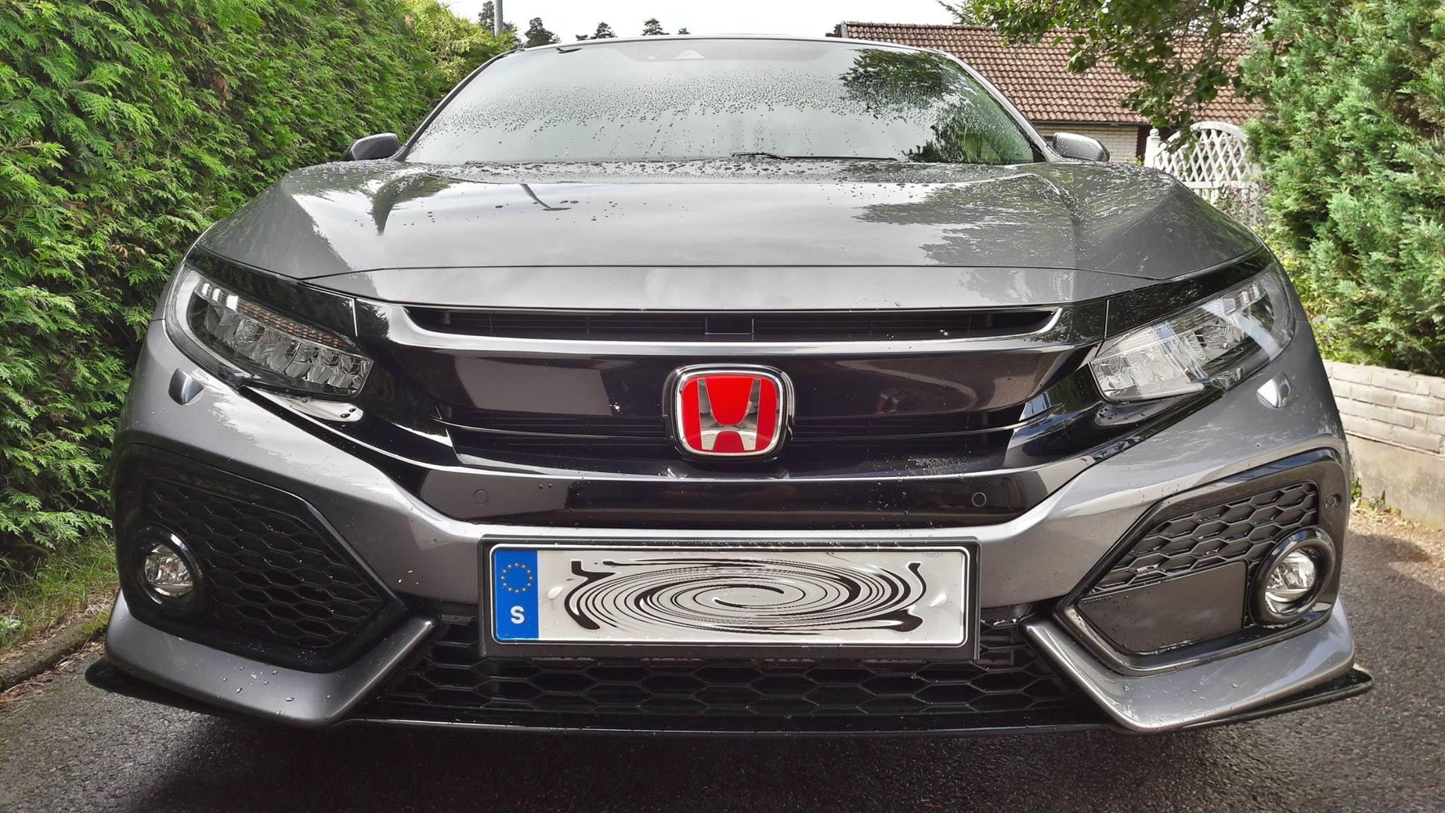 Red Emblems for 2017 Honda Civic Hatchback Sport Touring