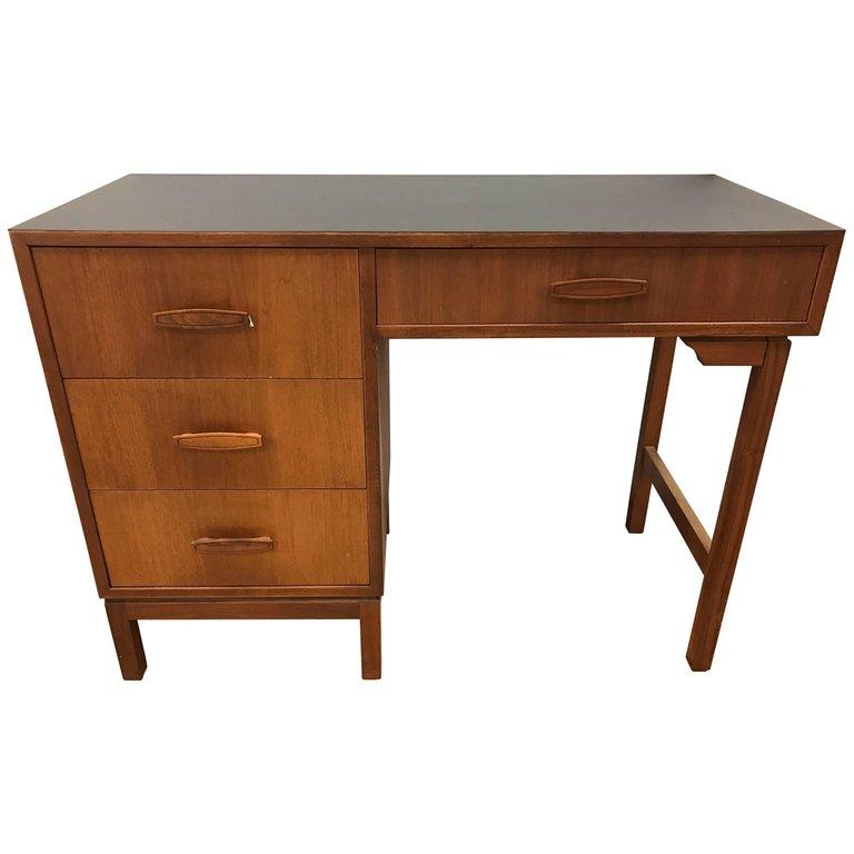 Mid Century Modern Danish Walnut Writing Desk Modern Desk Vintage Writing Desk