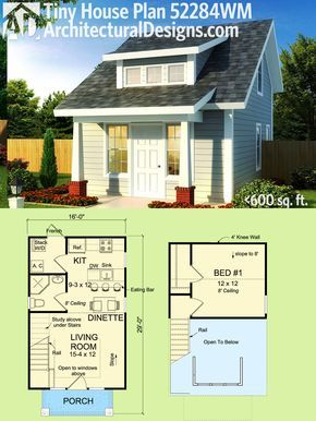 Plan 52284wm Tiny Cottage Or Guest Quarters In 2019