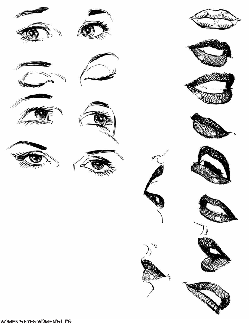 Womens mouth eyes arent they sometimes the hardest thing to draw