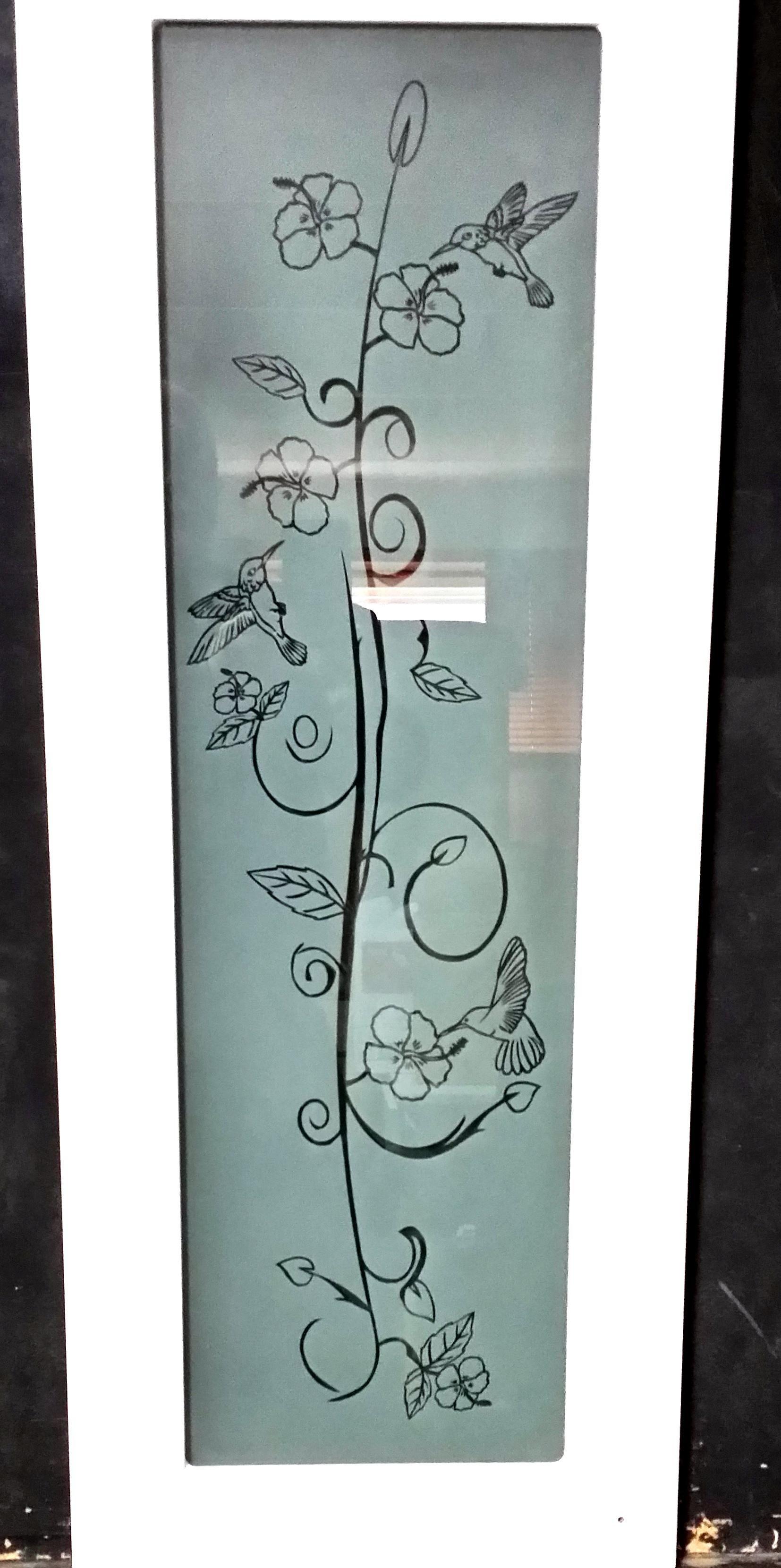 Humming Bird Kitchen Cabinet Door | Glass doors | Pinterest ...