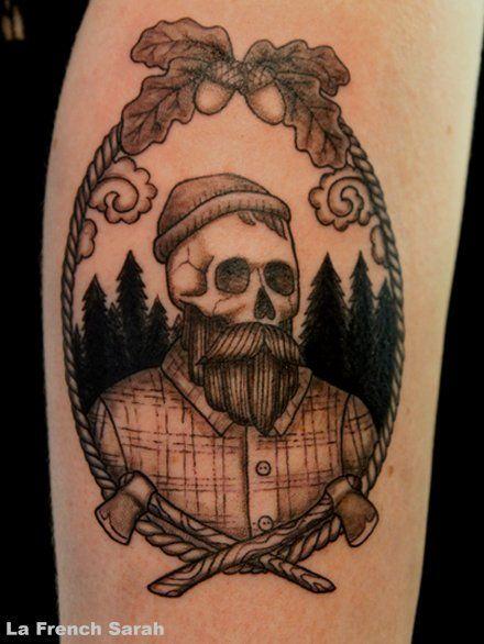Lumberjack tattoos by la french sarah