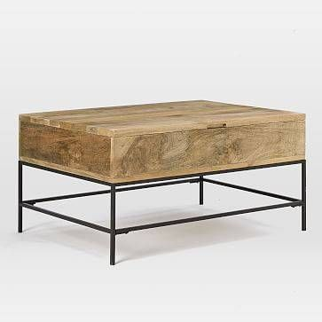 West Elm Industrial Storage Coffee Table Small Raw Mango Domino Coffee Table Coffee Table Wood West Elm Coffee Table
