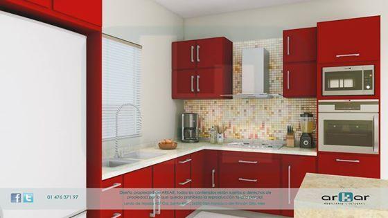 cocina roja mobiliario comercial Pinterest Cocina roja