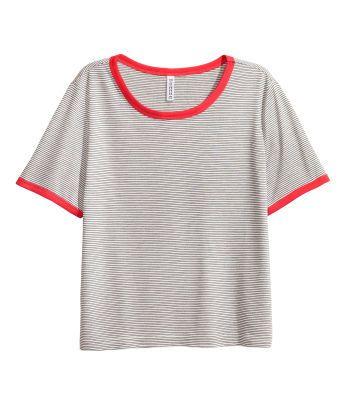 5c1b3c172 Ladies | Basics | H&M US | Back To Basic's | Short shirts, Tops, Shirts