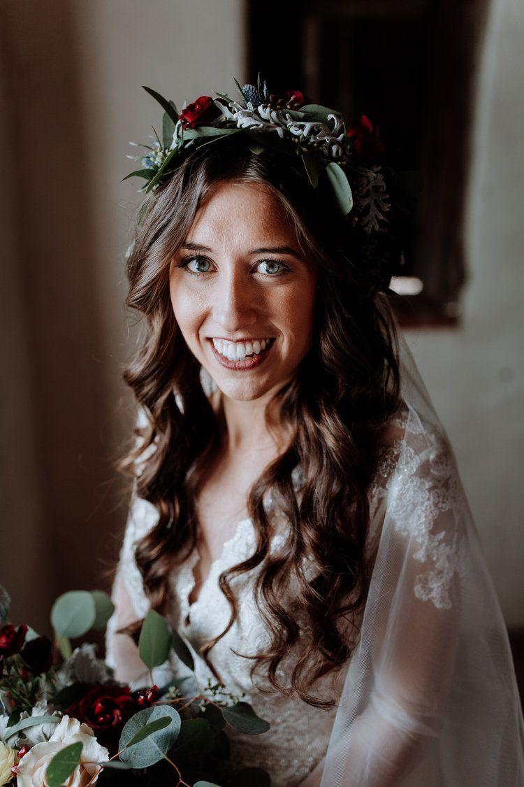 carlyn & dylan | brandywine manor house wedding flower crown