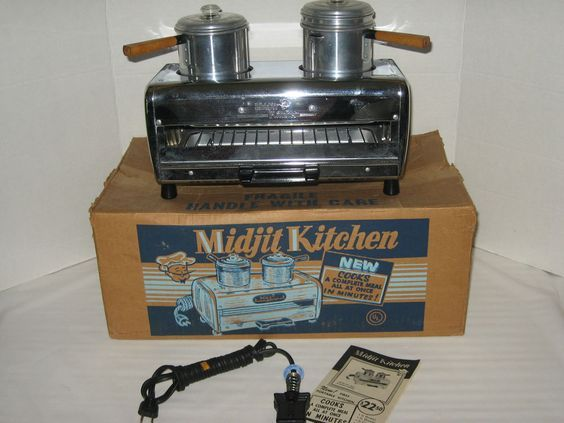 Vintage Midjit Kitchen All-in-One Toaster Oven Broiler Cook Top RV Camping NIB: