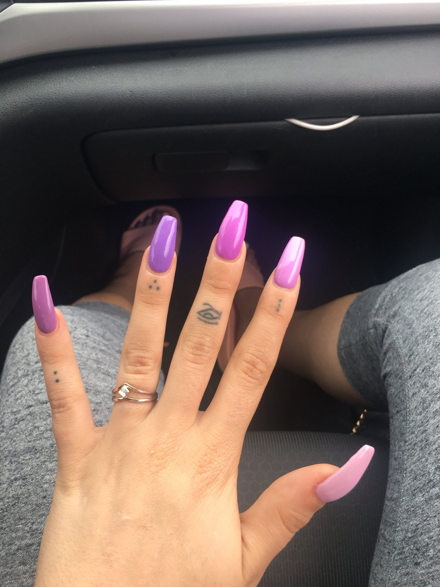 Pin By J P On Nails Purple And Pink Nails Purple Nails Pink Acrylic Nails