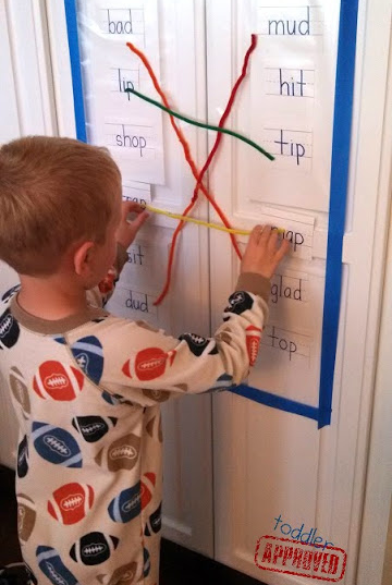 Pipe Cleaner Rhyming Sticky Wall = BRILLIANT!
