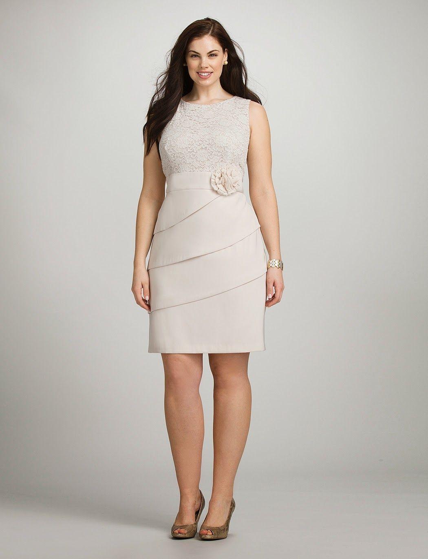 45a408ea6 Excelentes vestidos de encaje para gorditas | Colección 2014 ...