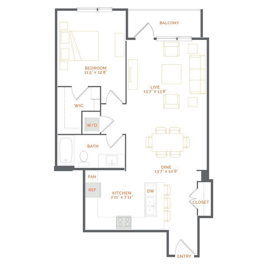 Incarnadine 1 Bed Bath 904 Sq Ft Starting At 2 525 Mo With Images 2 Bedroom Apartment Luxurious Bedrooms Apartment