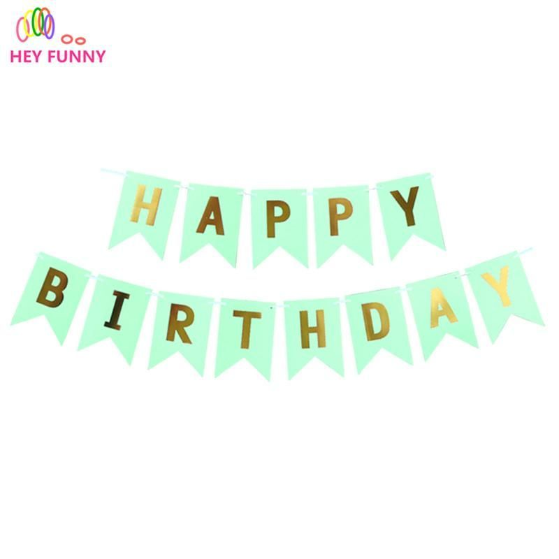 Paper Happy Birthday Bunting Banner Letter Hanging Garlands String Flags Party