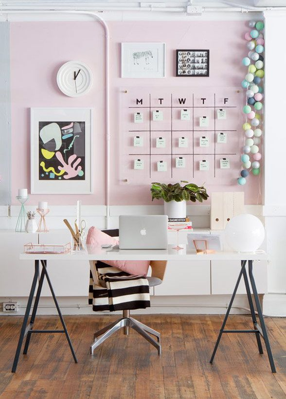 8 Ways To Design Your Office Like An Og Girl Boss Pink Office